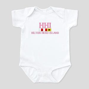 Hilton Head Island SC - Nautical Design Infant Bod