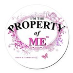 Property of Me Round Car Magnet