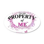Property of Me Oval Car Magnet