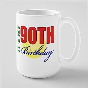 90th Birthday Party Large Mug