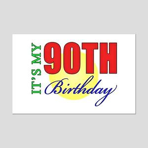 90th Birthday Party Mini Poster Print