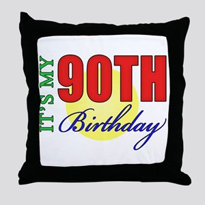 90th Birthday Party Throw Pillow