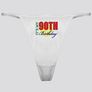90th Birthday Party Classic Thong