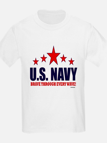 U.S. Navy Brave Through Every W T-Shirt