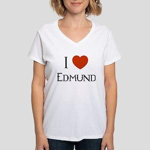 """I Love Edmund"" V-Neck T-Shirt"
