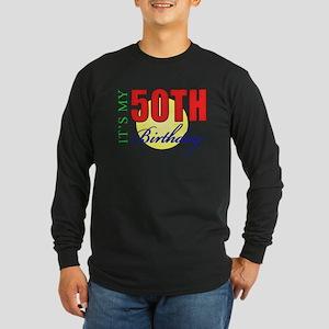 50th Birthday Party Long Sleeve Dark T-Shirt