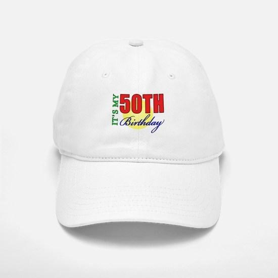 50th Birthday Party Baseball Baseball Cap