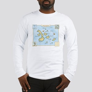 Galapagos Archipelago Map Long Sleeve T-Shirt