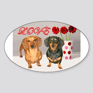 Flowers Oval Sticker