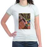 Santa Ana Train Train Station Jr. Ringer T-Shirt