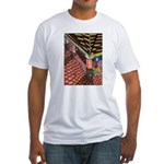 Santa Ana Train Train Station Fitted T-Shirt