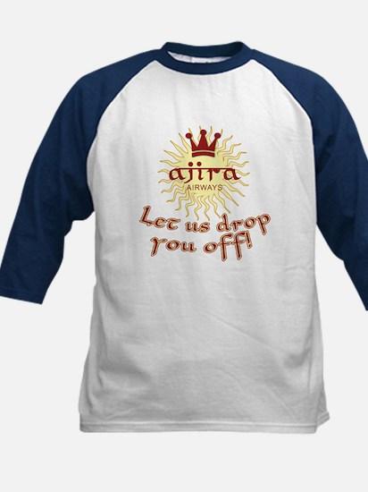 Lost Ajira Airlines Humor Kids Baseball Jersey