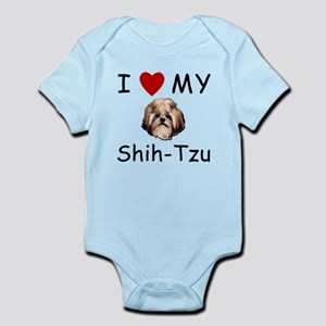 I Heart My Shih-Tzu Lost Humor Infant Bodysuit