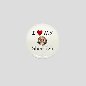 I Heart My Shih-Tzu Lost Humor Mini Button