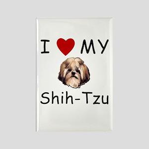 I Heart My Shih-Tzu Lost Humor Rectangle Magnet