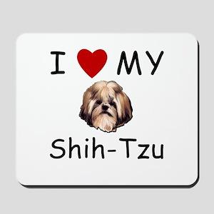 I Heart My Shih-Tzu Lost Humor Mousepad