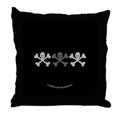 3Skulls&Crossbones Throw Pillow
