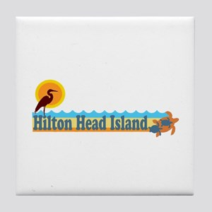 Hilton Head Island SC - Beach Design Tile Coaster