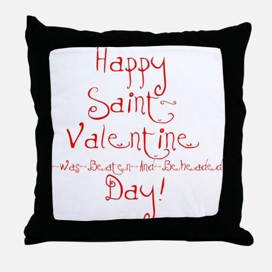 Cute Anti valentine Throw Pillow