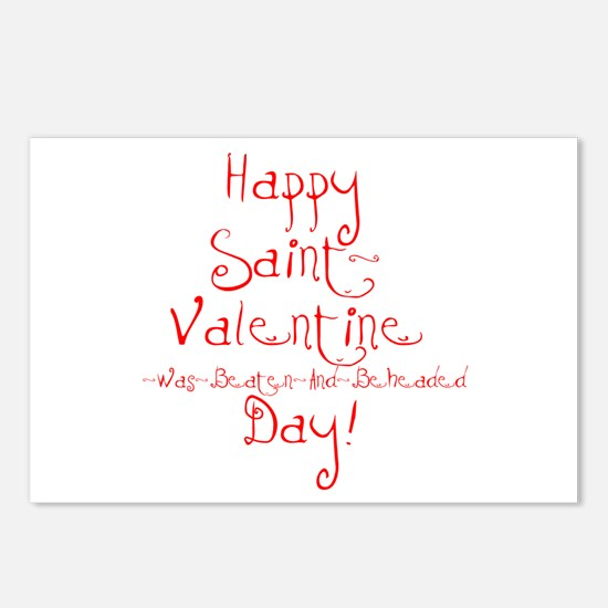 Cute Anti valentine Postcards (Package of 8)