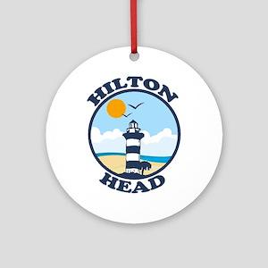 Hilton Head Island SC - Beach Design Ornament (Rou