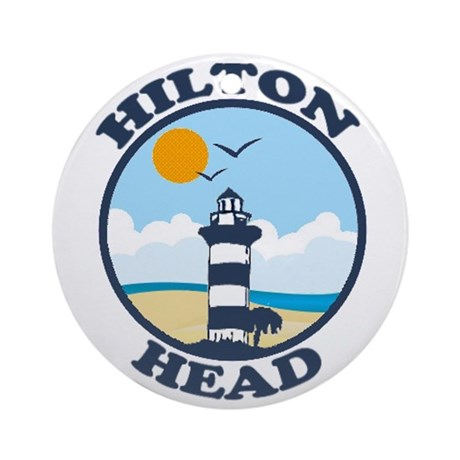 Hilton Head Island SC - Beach Design Ornament (Rou
