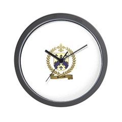BARIEAU Family Crest Wall Clock