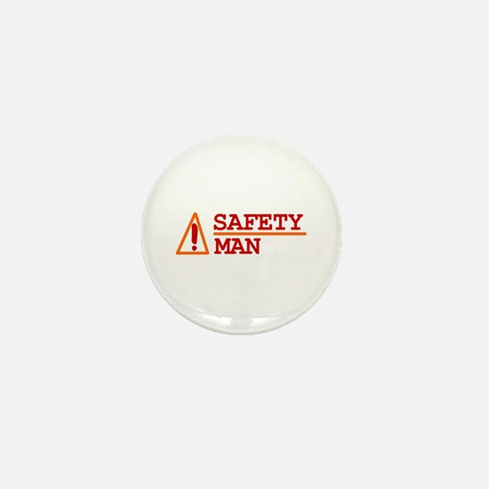 Safety Man Mini Button