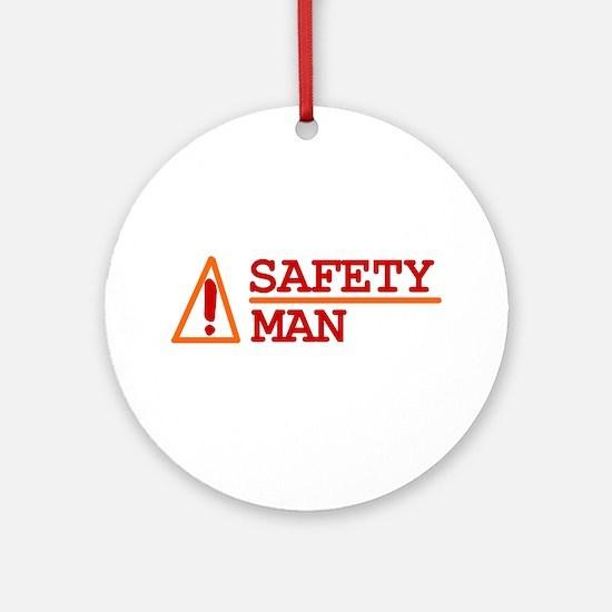 Safety Man Ornament (Round)