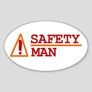 Safety Man Oval Sticker