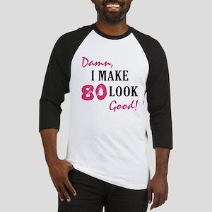 Hot 80th Birthday Baseball Jersey