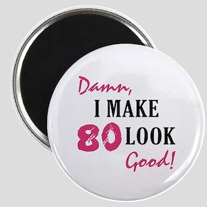 Hot 80th Birthday Magnet