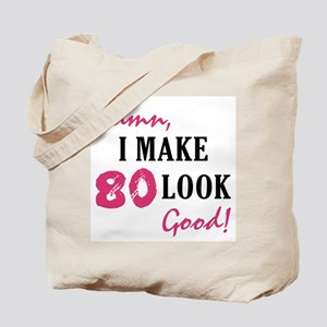 Hot 80th Birthday Tote Bag