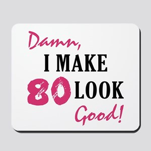 Hot 80th Birthday Mousepad