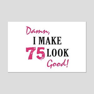 Hot 75th Birthday Mini Poster Print