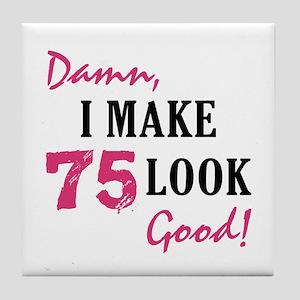 Hot 75th Birthday Tile Coaster
