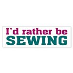 Rather be Sewing Bumper Sticker (10 pk)