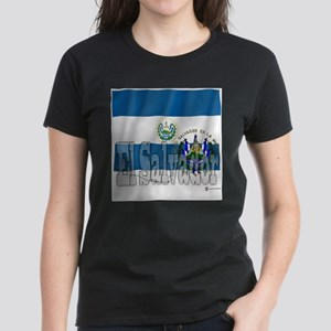 Silky Flag of El Salvador Ash Grey T-Shirt