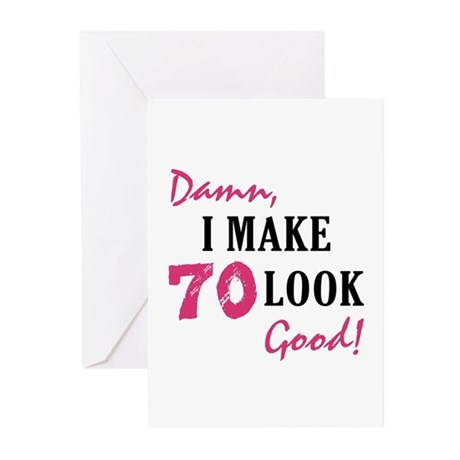 Hot 70th Birthday Greeting Cards Pk Of 10 By Birthdaybashed