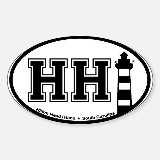 Hilton Head Island SC - Oval Design Oval Decal