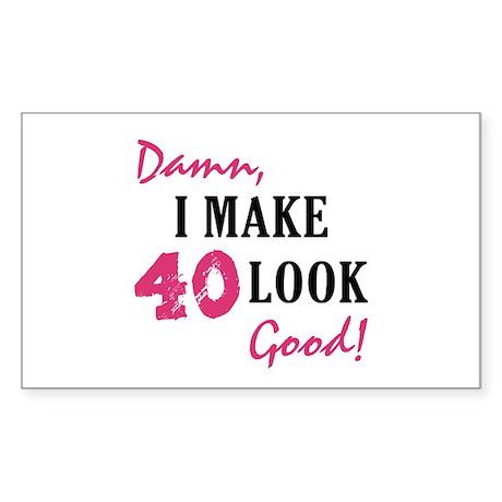 Hot 40th Birthday Rectangle Sticker