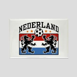 Nederland Soccer Rectangle Magnet