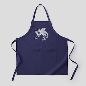 White Dragon and Unicorn Figh Apron (dark)