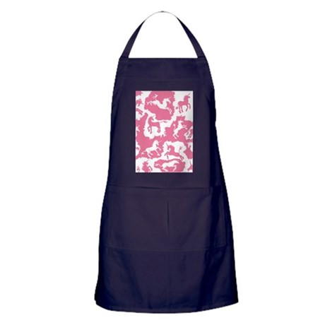 Rose Unicorn Patches Apron (dark)