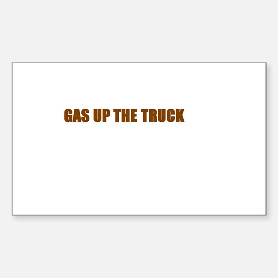 SCOTT BROWN - GAS UP THE TRUCK Rectangle Decal