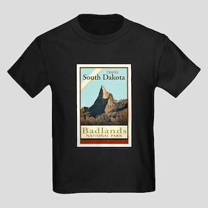 Travel South Dakota Kids Dark T-Shirt