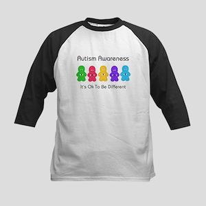 Autism Ok Difference Kids Baseball Jersey