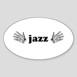 Jazz Hands Oval Sticker