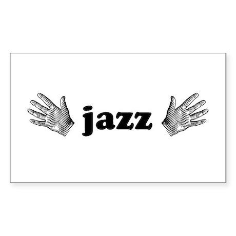 Jazz Hands Rectangle Sticker