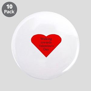 """Valentine 3.5"""" Button (10 pack)"""